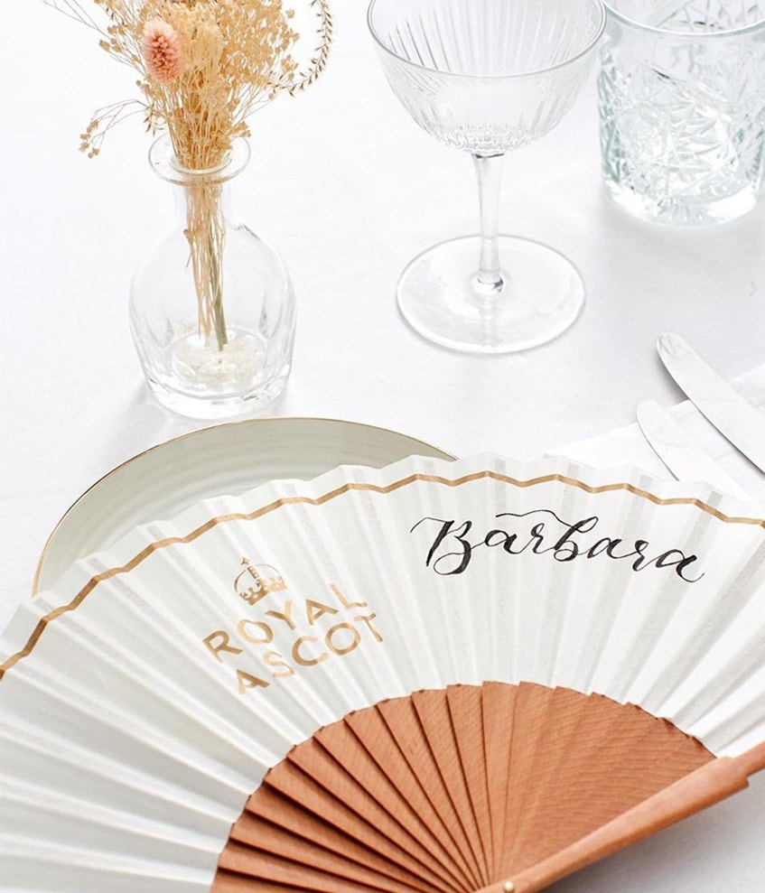 PERSONALISED HAND FANS, ROYAL ASCOT