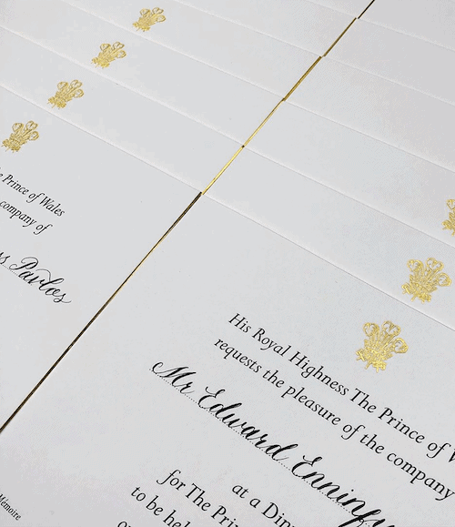 HANDWRITTEN INVITATIONS, BUCKINGHAM PALACE