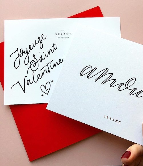 PERSONALISED VALENTINES CARDS, SEZANE