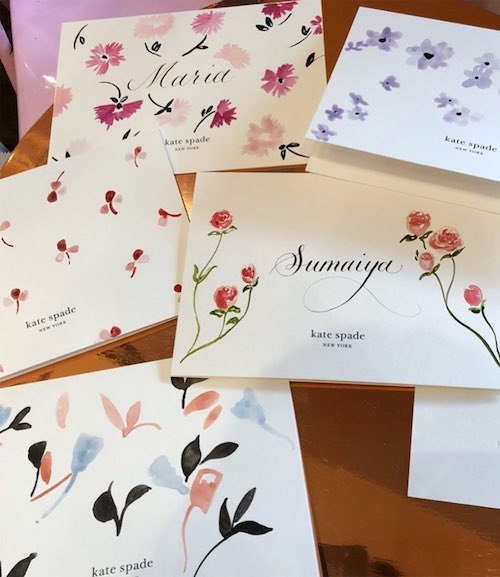 HAND PAINTED CARDS, KATE SPADE NEW YORK