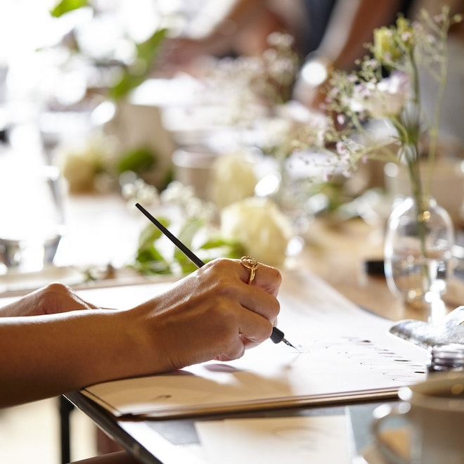 MODERN CALLIGRAPHY COURSE PRIVATE WORKSHOP - 1 ATTENDEE 2 HOURS