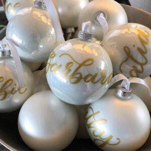 London Calligraphy Personalised Baubles