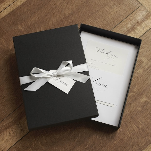 A Luxury Calligraphy Set is mailed to you before the Online Calligraphy Course
